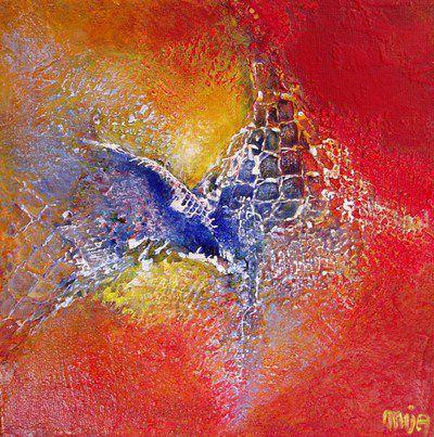 Peinture abstraction et reliefs par mija saint g ly du - Peinture effet relief ...