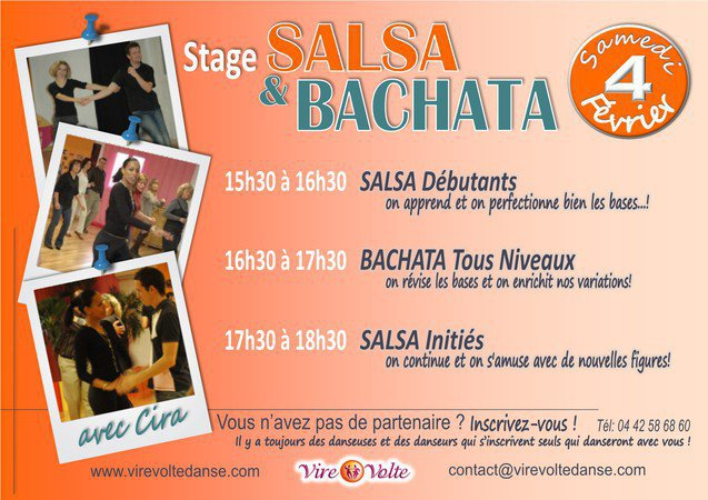 Stage de Salsa Cubaine et Bachata avec Cira