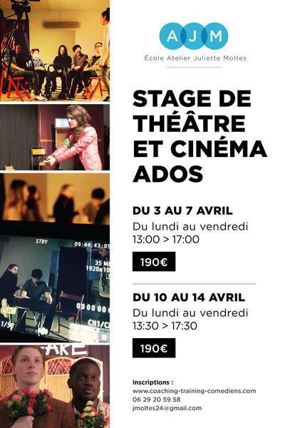 Stages THEATRE & CINEMA pour Ados / Vacances de Pâques