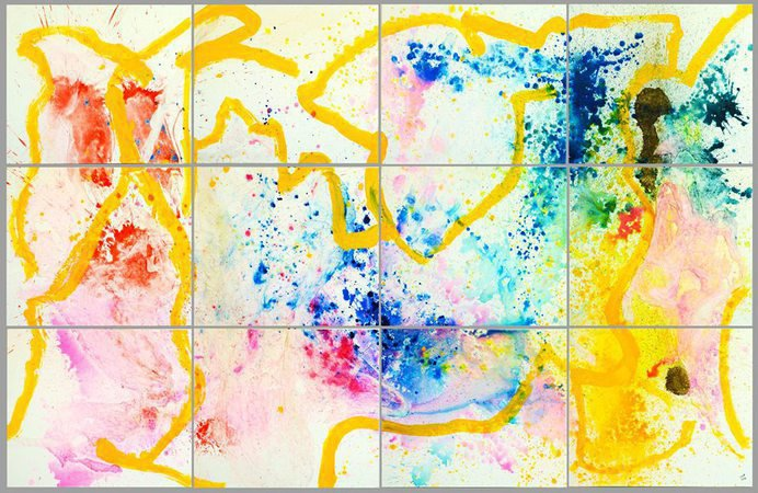 Le Bal à Jo, travaux abstraits du plasticien José-Xavier Polet