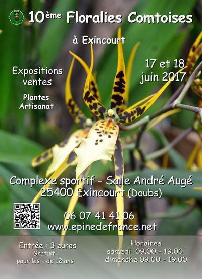 10ème Floralies Comtoises - 17 et 18 juin 2017