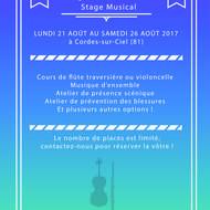 Stage musical (flûte traversière et violoncelle)