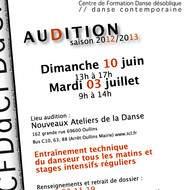 Auditions 2012 - 2013 du Centre de Formation de danse désoblique